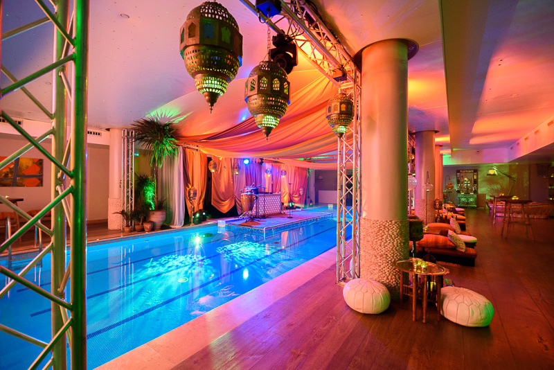indoor swimming pool at london event venue