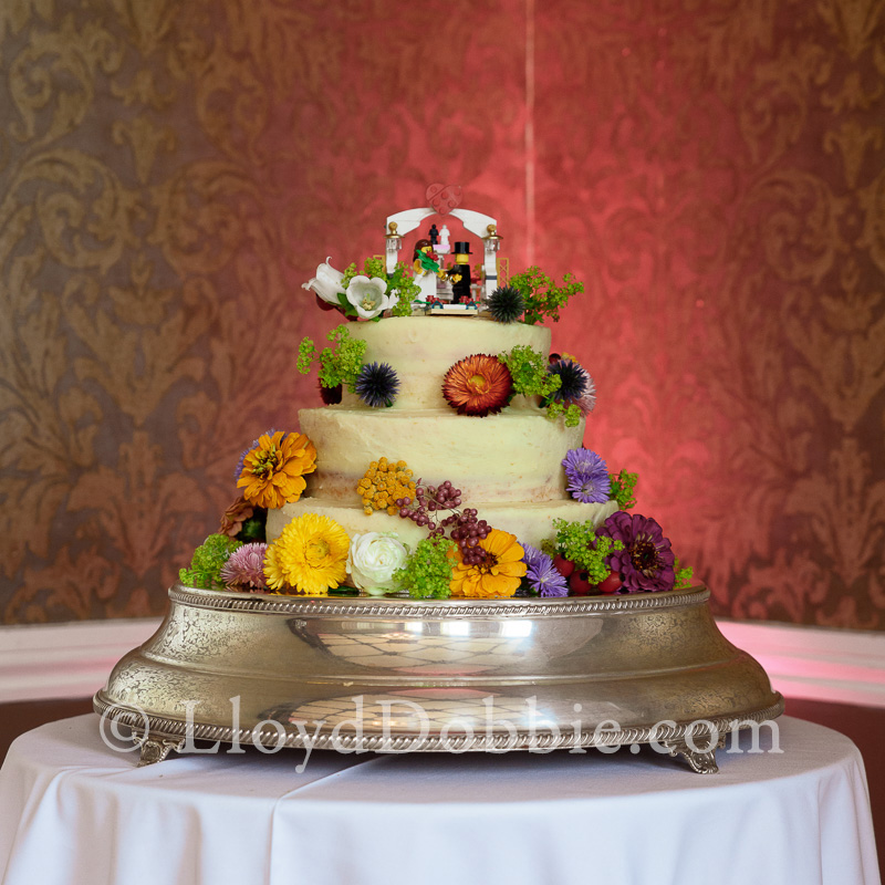 a wedding cake at nonsuch mansion
