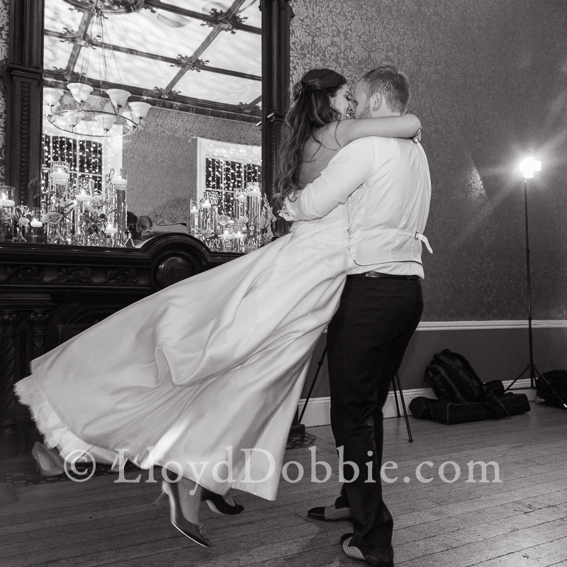 bride and groom dancing at a nonsuch mansion wedding