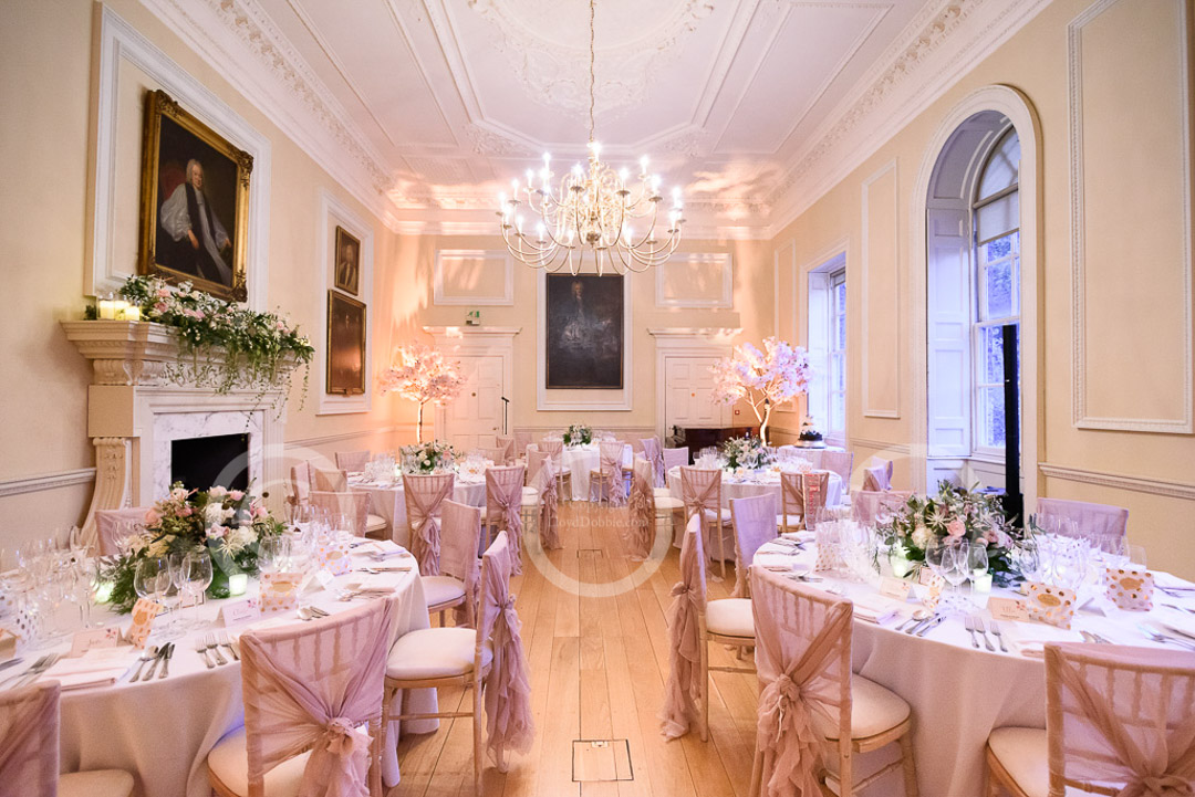 wedding tables in bishop sherlock's room fulham palace