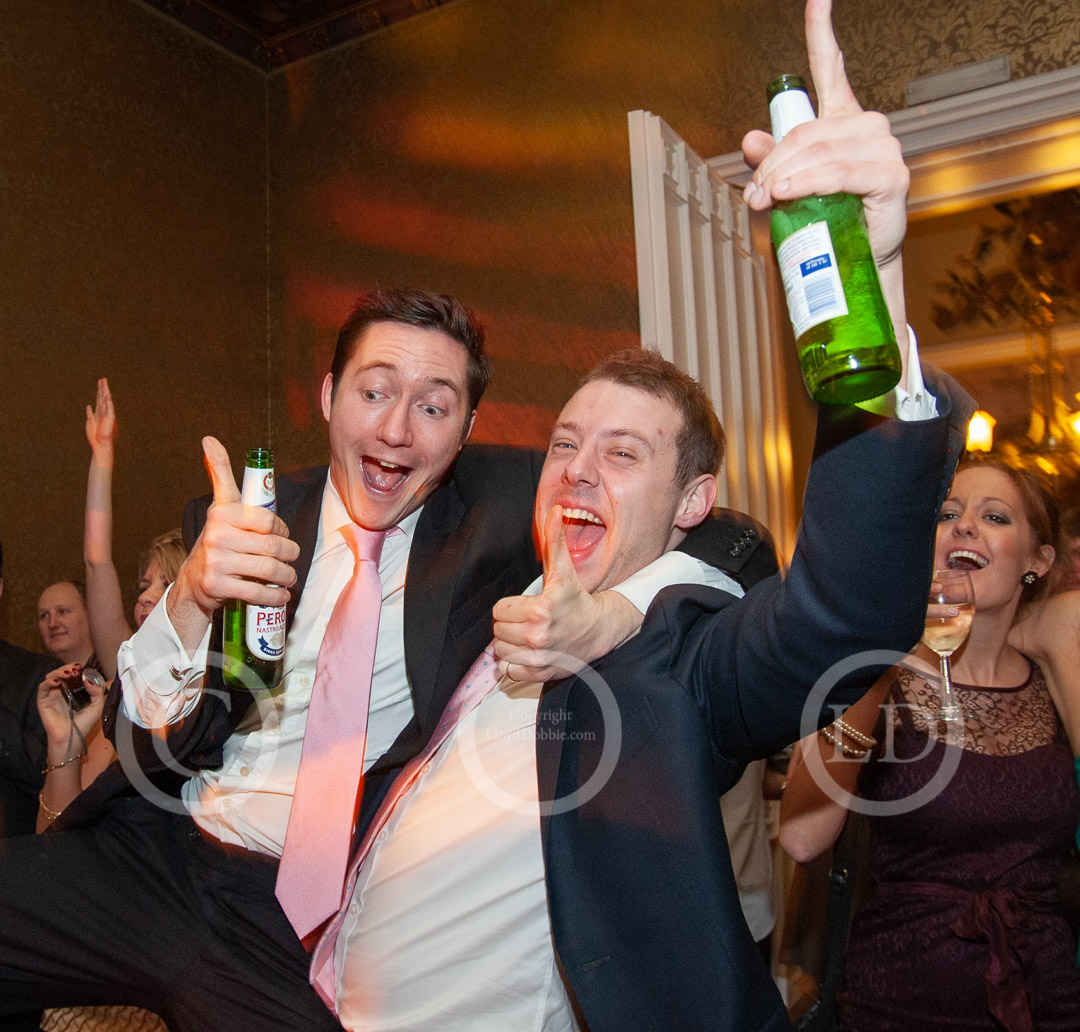 two male wedding guests dancing at nonsuch mansion
