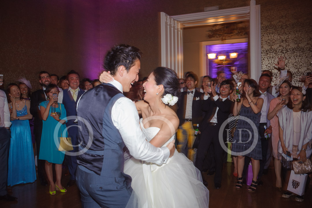 newlyweds dancing at nonsuch mansion wedding