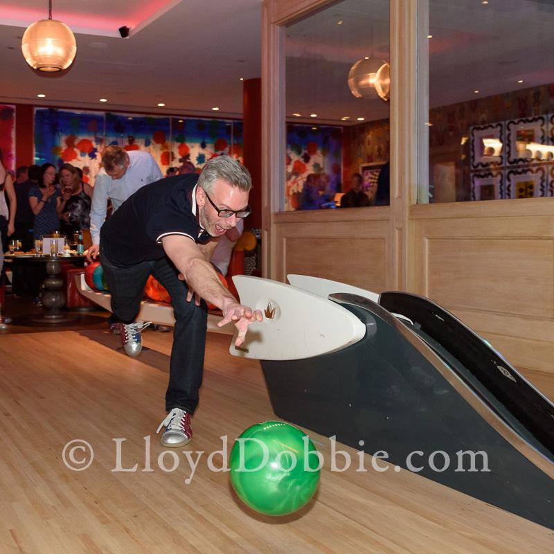 man playing ten pin bowling at the Croc